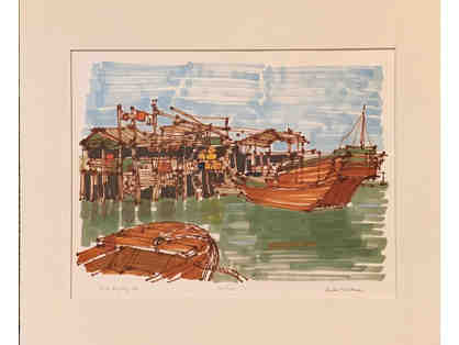 Tai-O Hong Kong 1982, Signed Print by Richard Gerstman