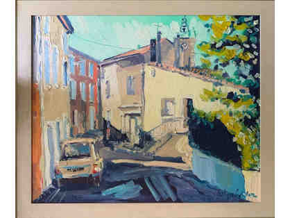 French Street Scene, Oil Painting by Unknown Artist