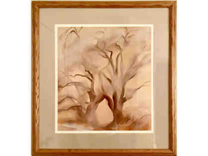 Winter Cottonwoods, Print by Georgia O'Keeffe