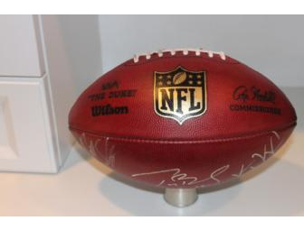 Game-Used Football Hand-Signed by 2011 New England Patriots Captains
