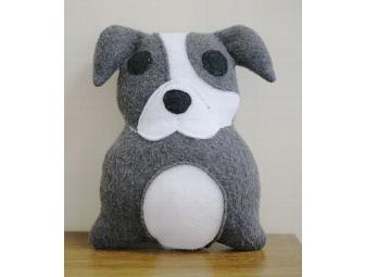 Pit Bull - Gray Plush Toy by Suzannah Ashley