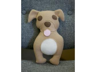 Pit Bull Plush Toy Tan by Suzannah Ashley