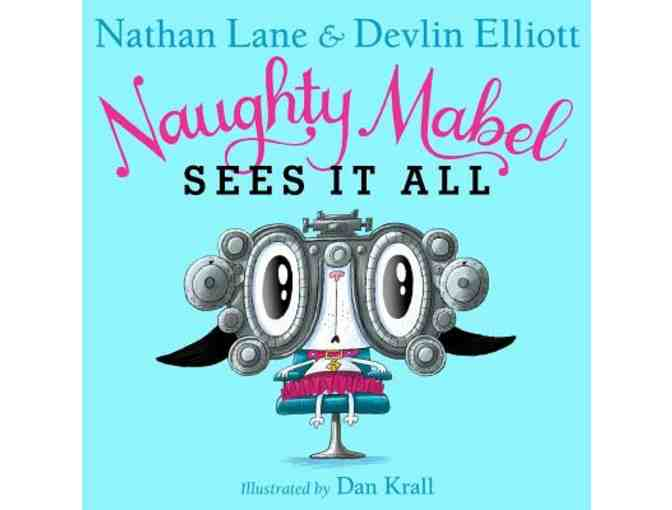 Autographed Copy of Naughty Mabel Sees It All