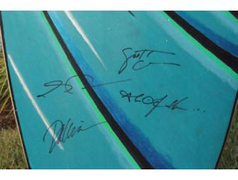Hawaii Five-O Board; Signed by the Cast of Hawaii Five-O; Art by Roy Gonzalez