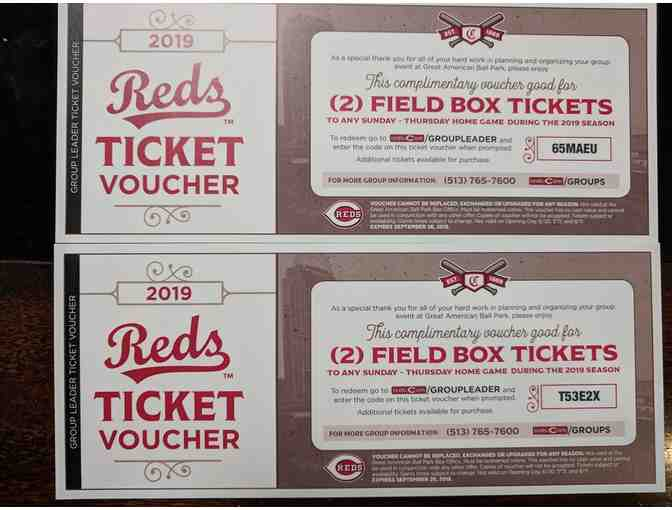 Complimentary Vouchers for 4 Field Box Tickets to a 2020 Reds Game - Photo 1