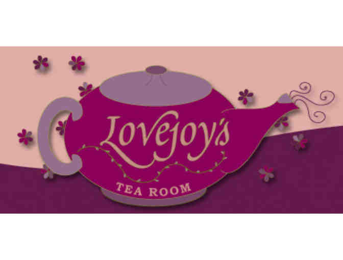 High Tea for One at Lovejoy's Tea Room
