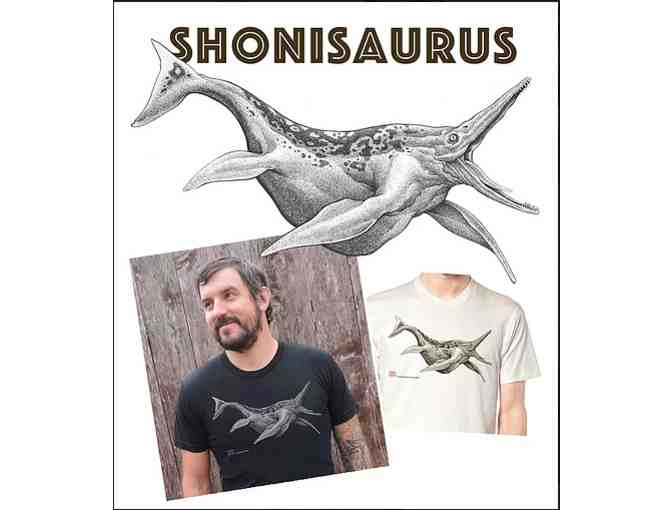 Cotton Crustacean Shonisaurus T-shirt (Unisex size Small)