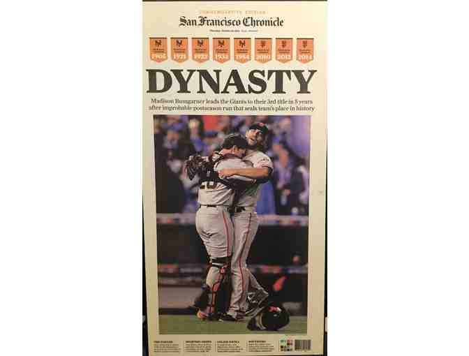 Mounted Giants World Series Newspaper