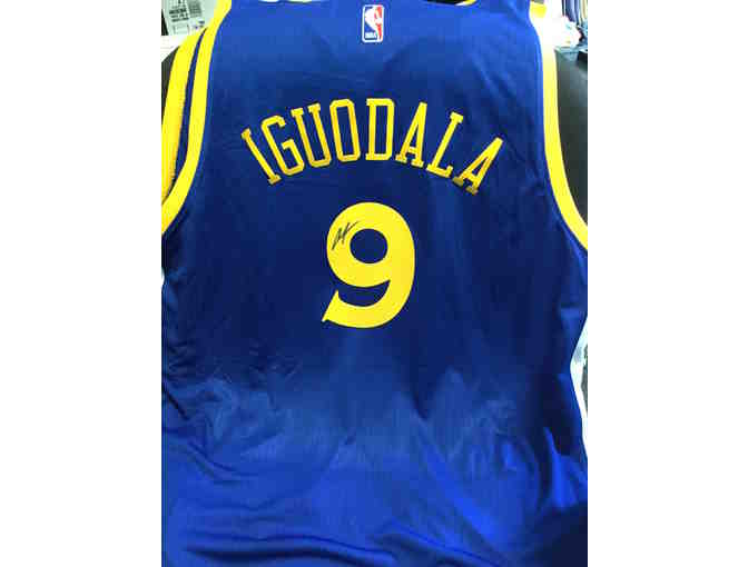 Andre Iguodala Autographed Jersey and Bobblehead