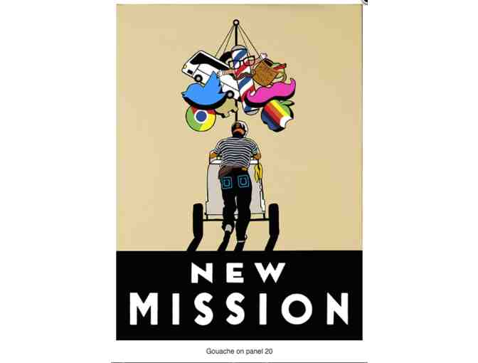 New Mission Framed Graphic Print by Alberto Ybarra