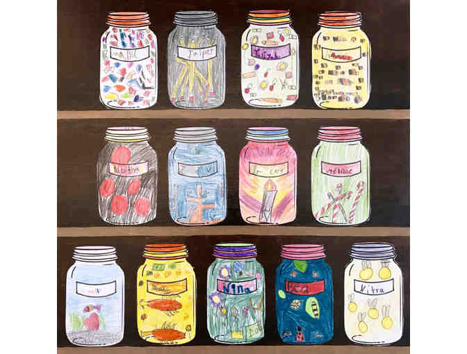Mason Jar Cupboards by the Rainbow Room