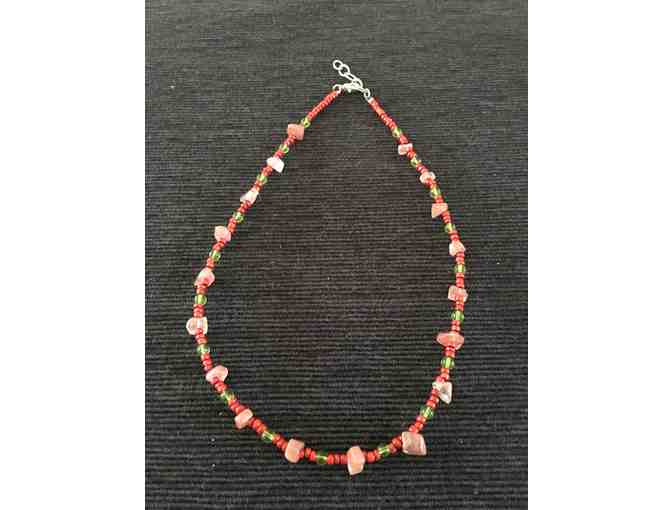Adjustable-length Beaded Choker