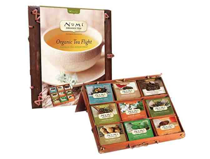 Numi Organic Tea Flight Premium Tea Assortment in a Bamboo Tea Chest