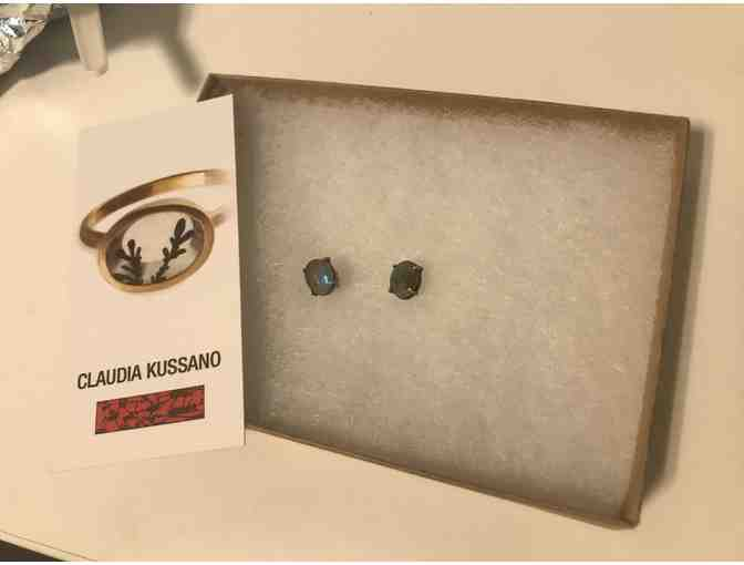 Claudia Kussano labradorite sterling stud earrings