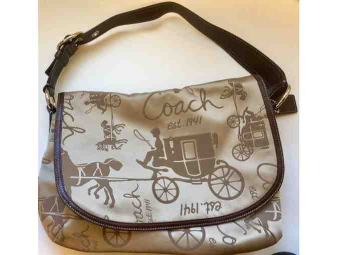 Coach Aniversary Edition Horse and Carriage Satchel Purse