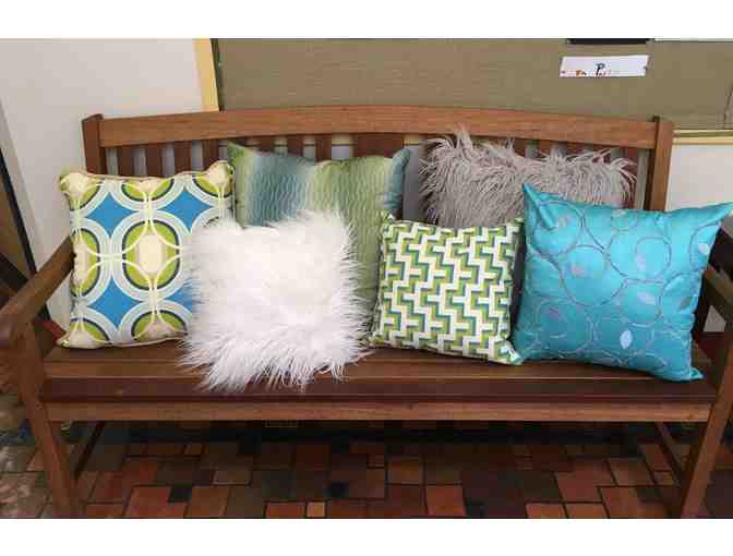Set of 6 uniquely handcrafted throw pillows