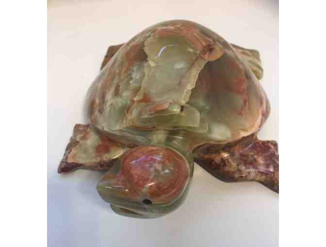Onyx Stone Decorative Turtle