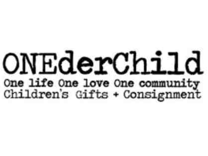 $50 Gift Certificate for ONEderChild, Children's Gifts