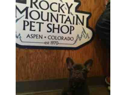 Rocky Mountain Pet Shop $25 gift certificate and dog toy