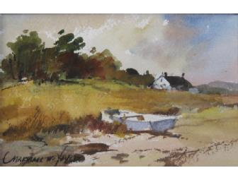 Summer Skiff--watercolor painting by Marshall Joyce, 4'x6'