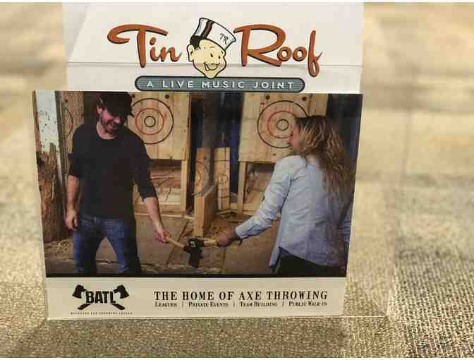 Throw the axe at Batle Nashville with 5 friends! And enjoy $25 towards food and beverage at Tin Roof - Photo 1