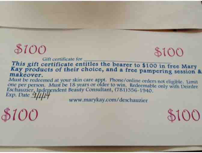 $100 Mary Kay Gift Certificate
