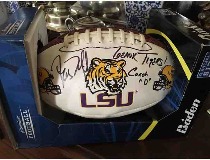 4 Tickets to the LSU/ Chattanooga game, 4 field passes, & signed LSU football by Coach Ed