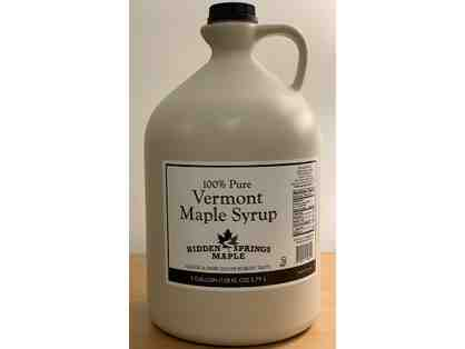 1 gallon of Pure Vermont Maple Syrup - Hidden Spring Maple