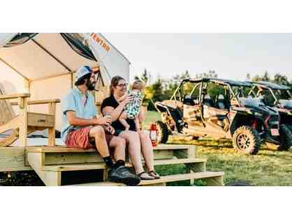 Bear Rock Adventures Play & Stay Glampling & ATV rental; 1 night, 2 people (NH)