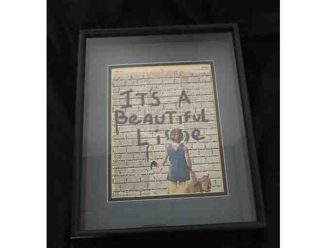 """A Beautiful Lie"" Framed Mixed Media Piece - Photo 1"