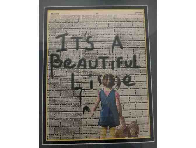 """A Beautiful Lie"" Framed Mixed Media Piece - Photo 2"