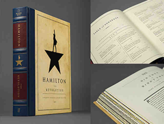HAMILTON book signed by LIN-MANUEL MIRANDA and VIP seats to a Q&A with the CURRENT CAST!