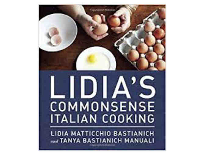 Signed Lidia Bastianich Cookbooks with Products from her Gourmet Line!
