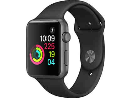 Apple Watch series 1- 42mm space gray aluminum with black sports band