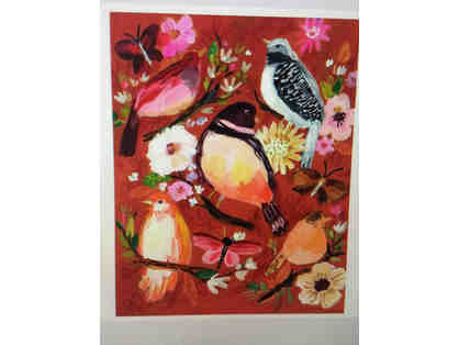 ART: Birds and Flowers Print, by Jennifer Orkin Lewis