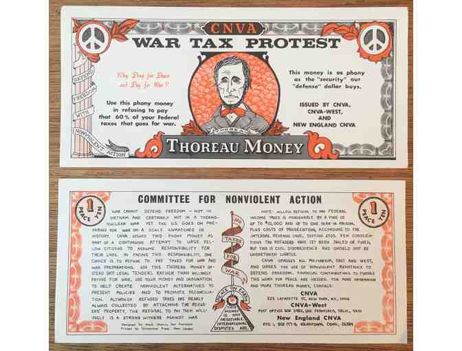 (2) Thoreau Money, Handbills from c. 1960s