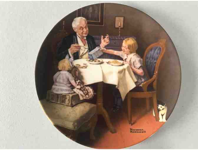Norman Rockwell Collector Plate, 'The Gourmet,' 1985