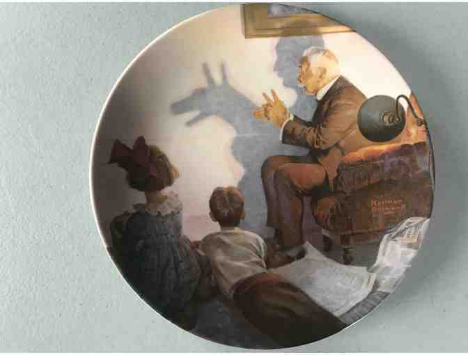 Norman Rockwell Collector Plate, 'The Shadow Artist,' 1987