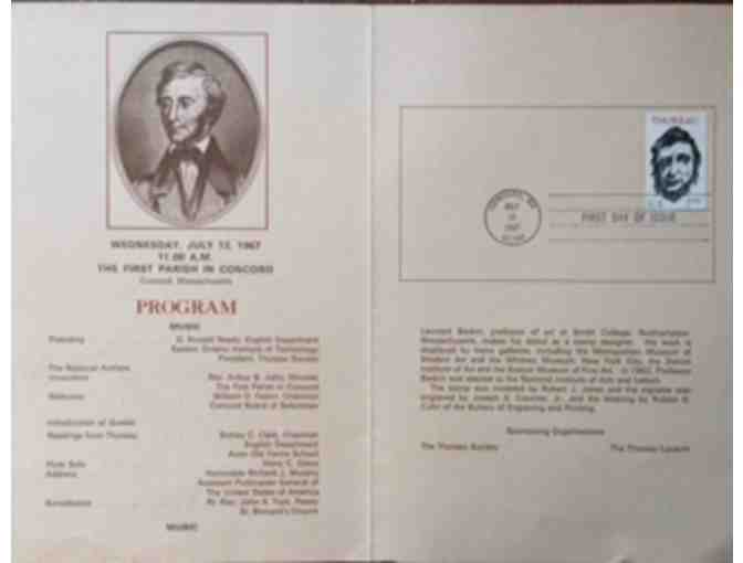Henry David Thoreau Commemorative Stamp Ceremony Program Booklet 1/2