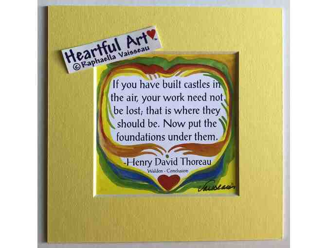 5x5 Thoreau Quote - If you have built