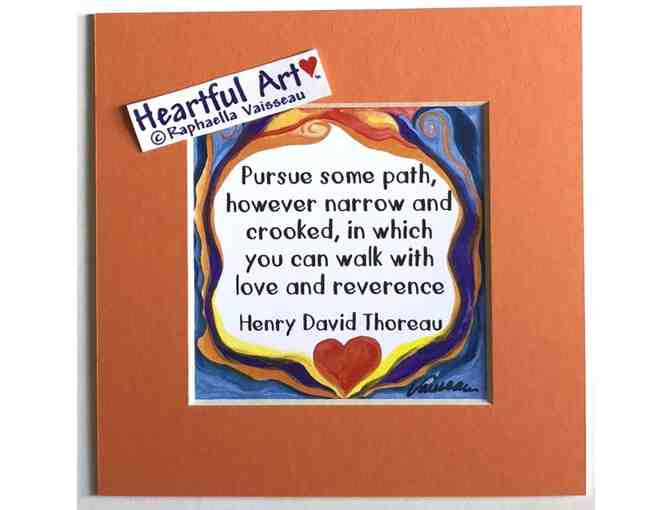 5x5 Thoreau Quote - Pursue some path