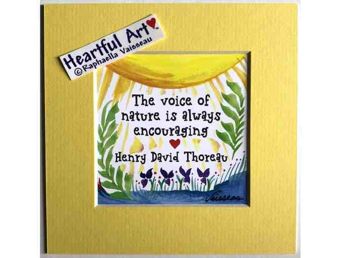 5x5 Thoreau Quote - Voice of nature - Photo 1