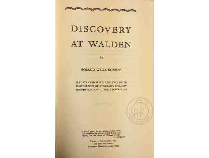 SIGNED COPY: Discovery at Walden 1970 Reprint