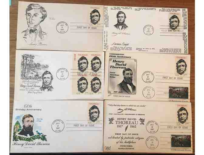 (6) Unique Thoreau Envelopes with First Day of Issue Thoreau Stamps