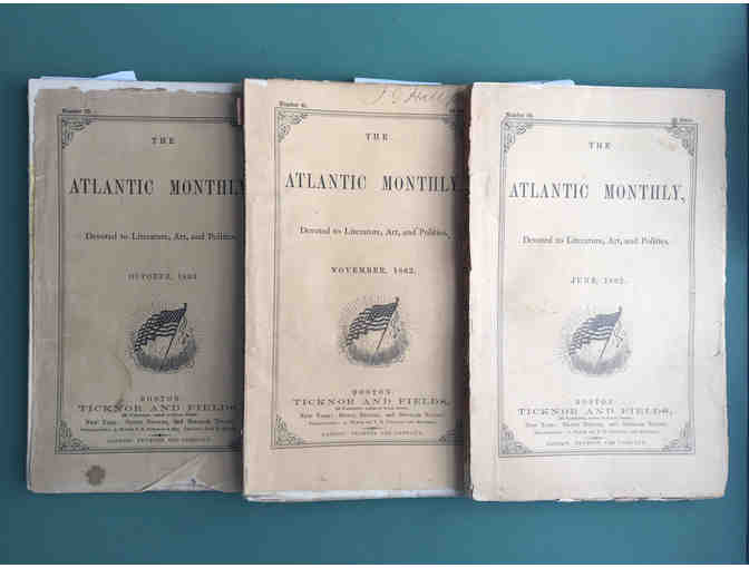 ATLANTIC MONTHLY - 12 VOL. SET - FIRST EDITION - THOREAU, EMERSON, & ALCOTT