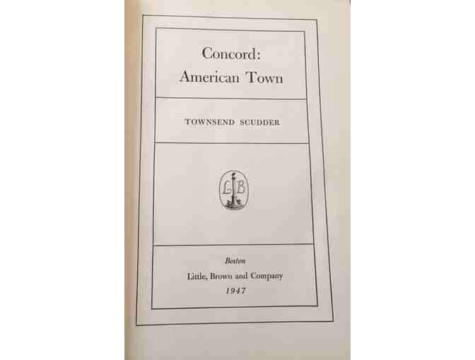 Concord: American Town By Townsend Scudder, First Edition