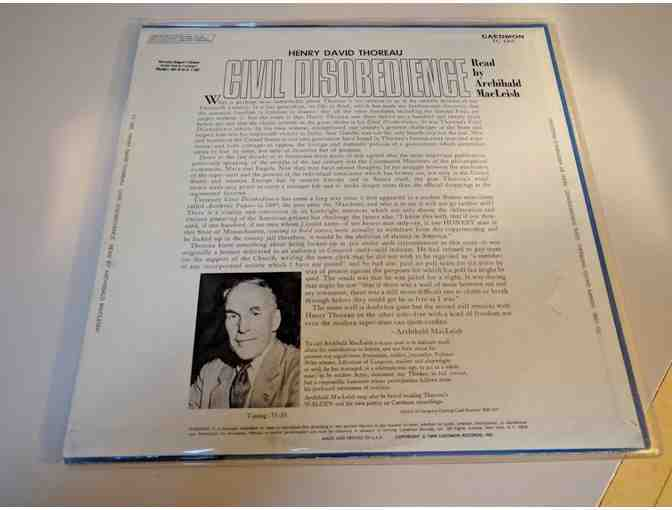 Archibald MacLeish reads 'Civil Disobedience' LP