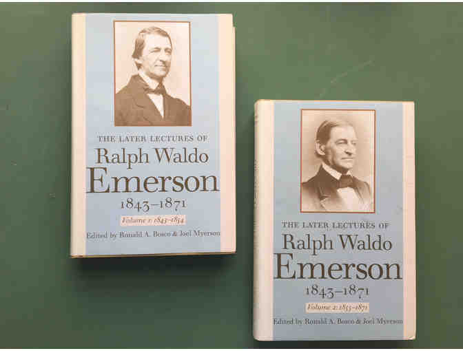 2 VOL. SET - The Later Lectures of Ralph Waldo Emerson Vol I & II, 2001, Hardcover.