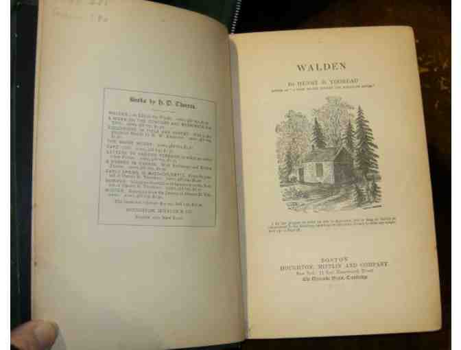 'Walden,' by Henry David Thoreau (Houghton Mifflin, 1882)