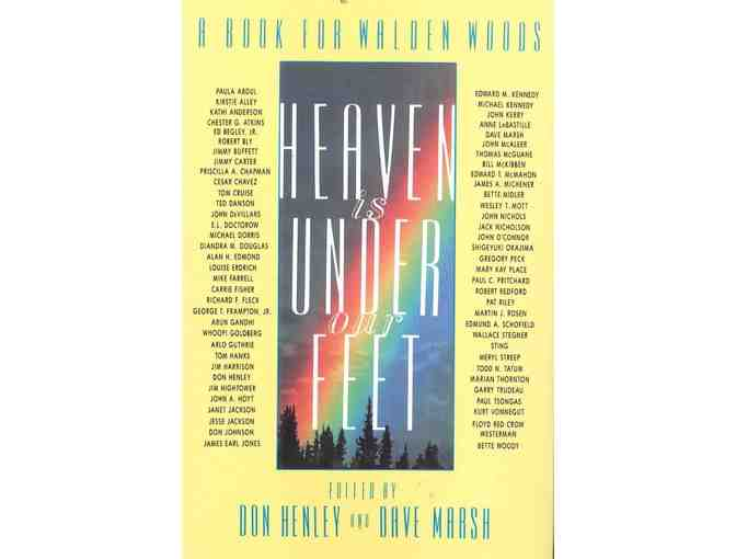'Heaven is Under Our Feet,' signed by Don Henley, & Walden Woods Concert T-Shirt